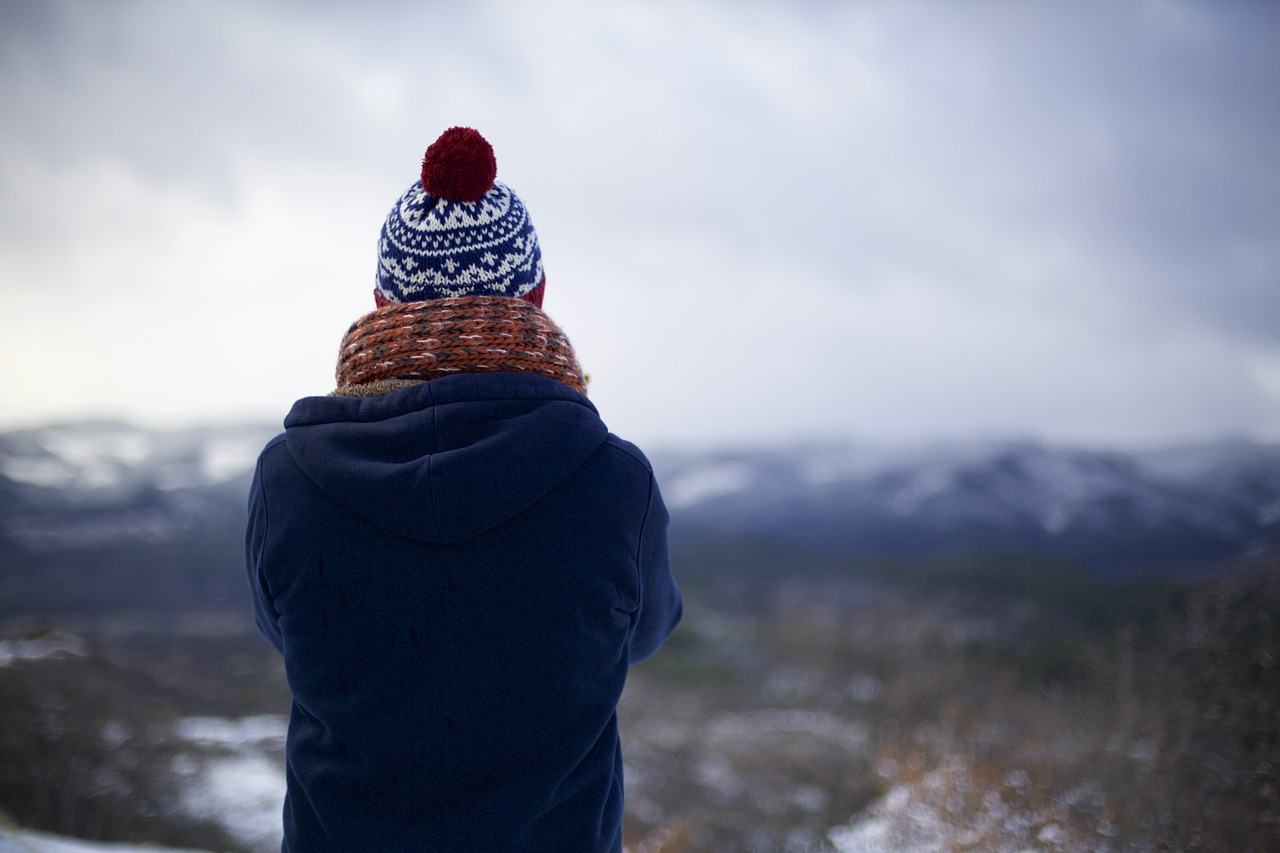 person in winter hat
